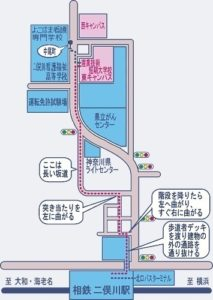 短大校への地図